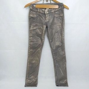 Decree pants Skinny Metallic Gray stretch jeans 7